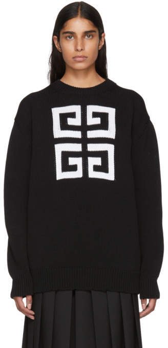 Givenchy Black 4G Crewneck Sweater