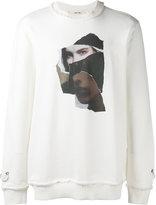Damir Doma face print sweatshirt - men - Cotton - XS