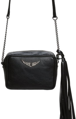 Zadig & Voltaire Boxy Extra Small Tassel Leather Crossbody Bag