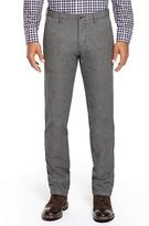 HUGO BOSS Crigan Regular Fit, Cotton Tweed Casual Pant - Charcoal