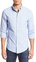 Original Penguin Men's Trim Fit Jaspe Oxford Woven Shirt