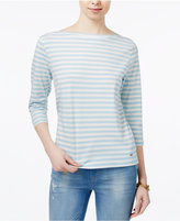 Tommy Hilfiger Striped Boat-Neck Top, Only at Macy's
