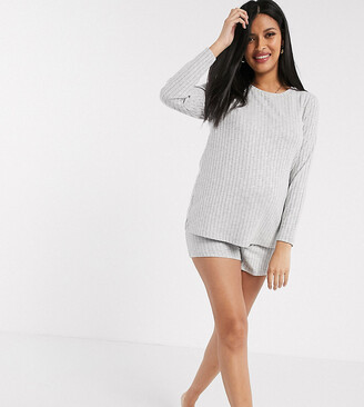 Asos DESIGN Maternity exclusive ribbed short