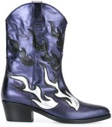 Chiara Ferragni flame Western boots - women - Leather - 36