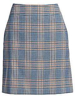 Women`s Bicolor Plaid A-Line Skirt