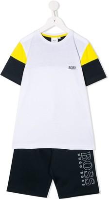 Boss Kidswear Colour Block Tracksuit Set