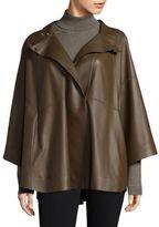 Lafayette 148 New York Guinevere Leather Cape