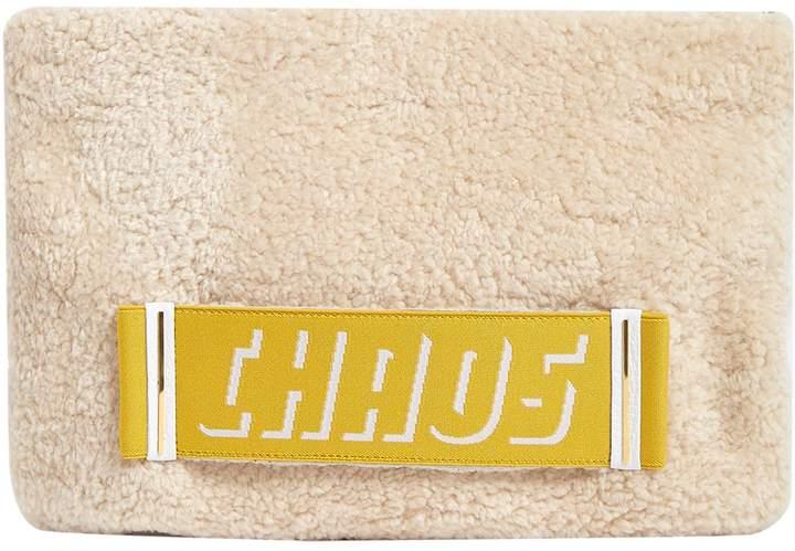 Chaos Shearling Logo Pouch