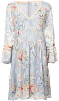We Are Kindred oriental print flared dress
