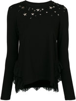 Twin-Set sweatshirt with star detail - women - Cotton/Polyamide/Polyester/Spandex/Elastane - XXS