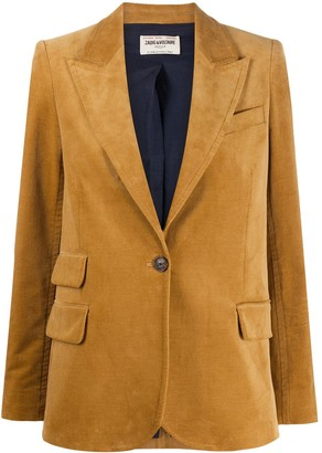 Zadig & Voltaire Single-Breasted Fitted Blazer