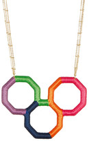 Trina Turk Wrapped Geo Pendant Necklace