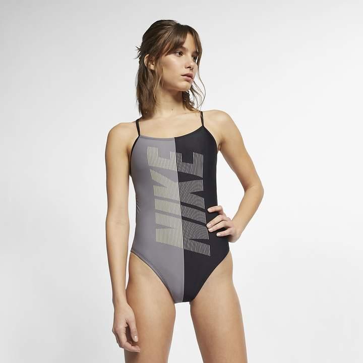 Nike Women's Cut-Out One-Piece Swimsuit Rift