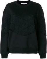 Stella McCartney fringe-trimmed sweatshirt - women - Cotton/Polyamide/Viscose - 38