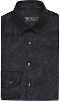 Salvatore Ferragamo Floral-print Slim-fit Silk Shirt