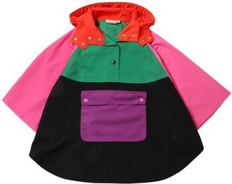 Stella Mccartney Kids Color Block Nylon Rain Coat