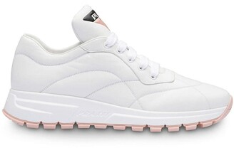 Prada Top Stitched Runner Sneakers