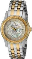 Lucien Piccard Women's 'Merrell' Quartz Stainless Steel Automatic Watch, Two Tone (Model: LP-40029-SG-22-Mop)