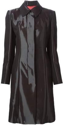 Jean Louis Scherrer Pre-Owned shiny single breasted coat