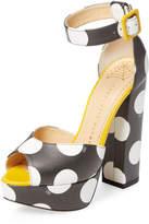 Charlotte Olympia Women's Eugenie Suede Platform Sandal