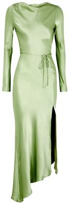 Bec & Bridge Crest light green satin midi dress