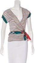 M Missoni Striped Wrap Top