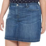 Croft & Barrow Plus Size Denim Skort