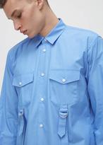 Comme des Garcons blue buckle dress shirt