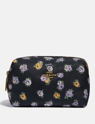 Coach Small Boxy Cosmetic Case With Vintage Rose Print