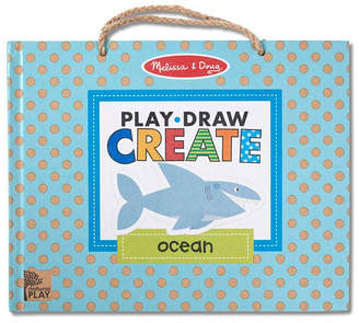 Melissa & Doug Melissa Doug Natural Play: Play, Draw, Create Reusable Drawing Magnet Kit - Ocean 42 Magnets, 5 Dry-Erase Markers