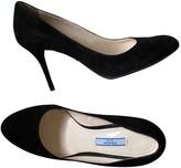 Prada Black Suede Heels