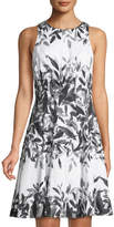 Maggy London Whisper Leaf Fit-&-Flare Dress