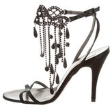 Christian Lacroix Embellished Satin Sandals