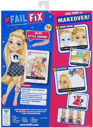 FailFix @Preppi.Posh Total Makeover Doll Pack, 8.5 inch Fashion Doll with Long Blonde Restylable Hair and Transforming Face, Surprise Fashion Reveal and Accessories
