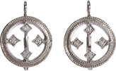Cathy Waterman Diamond Stained Glass Circle Earrings