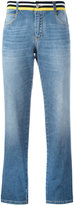 Ermanno Scervino striped waistband straight jeans - women - Cotton/Spandex/Elastane - 38