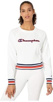 Champion Campus French Terry Crew (White) Women's Sweatshirt
