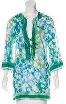 Diane von Furstenberg Printed Tunic Blouse