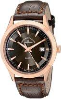 Zeno Men's 6662-515QPGR-F1 Vintage Line Analog Display Quartz Brown Watch