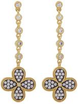 Freida Rothman 14K Gold Plated Sterling Silver Bezel Set CZ Drop Earrings