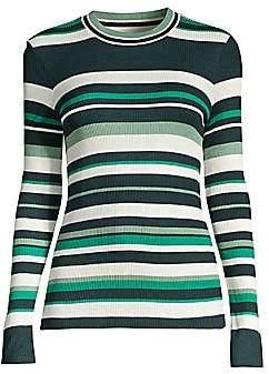 BOSS Women's Elauren2 Striped Mini Rib Jersey Top