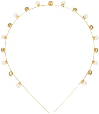 Jennifer Behr Iva crystal-embellished headband