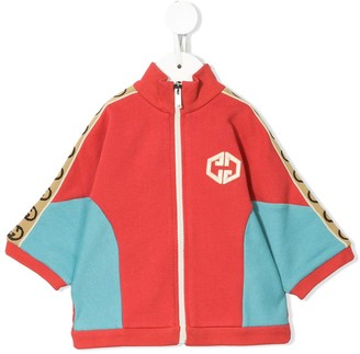 Gucci Kids Side Panelled Zipped Sweatshirt