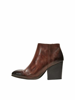 Selected Women's SLFAMBER Zip Leather Boot B Ankle