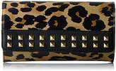 Juicy Couture Leopard Wallet with Gold Chain and Studs