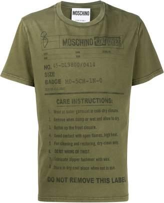 Moschino care label print T-shirt