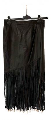 Tamara Mellon Black Leather Skirts
