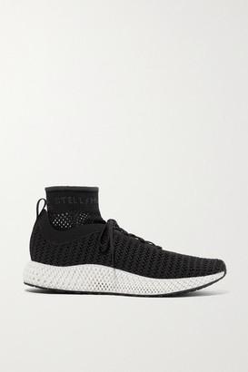 adidas by Stella McCartney Alphaedge 4d Stretch-knit Sneakers - Black