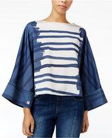 Rachel Roy Printed Angel-Sleeve Top, Only at Macy's