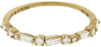 Suzanne Kalan Diamond Firework Half Band Ring - Yellow Gold